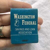Washington Federal Savings And Loan Association Vintage Matchbook Advertising