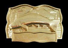 FISH FISHING SALMON BASS BAIT TROUT ENGRAVABLE BELT BUCKLE BOUCLE DE CEINTURES