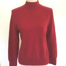 Prive 100% Cashmere Mock Turtleneck Sweater Size L Red