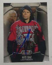 Nate Diaz Signed 2012 Topps Finest UFC Card #76 Autograph 94 111 118 129 135 141