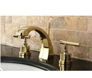 Kingston Brass KS498.CML Manhattan 1.2 GPM Widespread Faucet