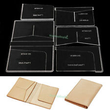 Passport 834 Templates card Clear Acrylic Leather Pattern Craft Tools DIY Hobby