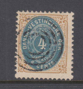 Danish West Indies Sc 7 Brown and Dull Bliue F/VF Used