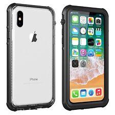 Black For Apple iPhone X Waterproof Dirt Proof Case Full Body Slim Defender