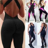 Fashion Women Jumpsuit Rompers Suit Workout Bodysuit For Sport Yoga Gym Fitness