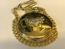 Love Heart Scroll TG167 Pewter on a Gold Pocket Watch Quartz fob
