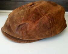 Stetson Flatcap Hat Small Brown Leather - Cappello Stetson Marrone Pelle