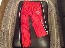 VTG Pro Player Wisconsin Badgers basketball Snap up sweat pants mens Large -cool