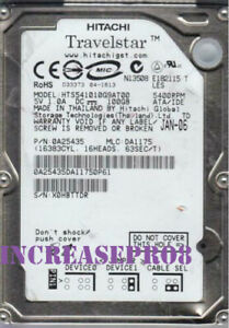 "HITACHI 100GB HTS541010G9AT00 5400 RPM IDE 8MB 2.5"" Laptop HDD Hard Disk Drive"