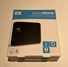 WD - Easystore 1TB External USB 3.0 Portable Hard Drive - Black New