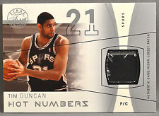 03-04 Fleer Flair Final Edition Tim Duncan JERSEY PATCH #15/50 2003 2004 SPURS