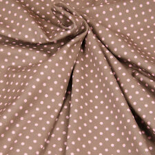 Jersey Hilco Everly Points braun rosa Dots Punkte Kinderstoff Meterware