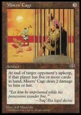 MTG 1x MISERS' CAGE - Mirage *Rare Artifact Damage NM*