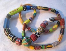 Antique Fancy Venetian Glass  / African Trade Beads Strand #1