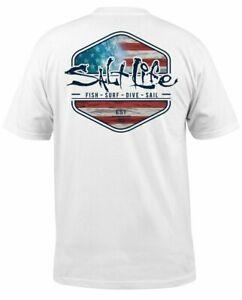 Mens Salt Life Ameriseas Graphic Short Sleeve T-Shirt - 2XL/XL/Large/Medium  NWT