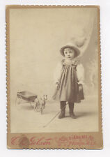 MASON & PARKER ARTICULATED LEGS HORSE DRAWN TIN TOY WAGON CABINET PHOTO 1899-'07