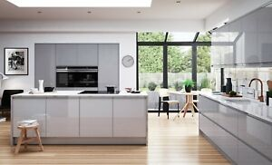 Magnet Planar Handleless Grey gloss 7 Kitchen Unit £1399 FITTING ALL LONDON