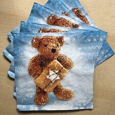 5 Teddy Bear Paper Napkins