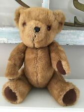 Vintage Gwentoy The Dean's Teddy Bear Great Britain Jointed Rattle Clean 9 inch