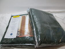 """Miller Curtain ANTIQUE SATIN Lined Back Tab Panels Two (40""""x95"""") ~ Basil Green"""