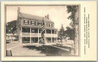 WEST OVERTON SCOTTDALE PA HISTORICAL HOUSE VINTAGE POSTCARD