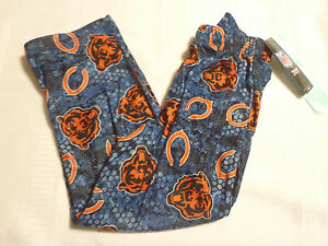 NFL Team Apparel Chicago Bears Youth 4 5 6 Choice Polyester Flannel Sleep Pant
