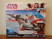 NEW Star Wars The Last Jedi Resistance Ski Speeder w/ Poe Dameron * MIB IN HAND