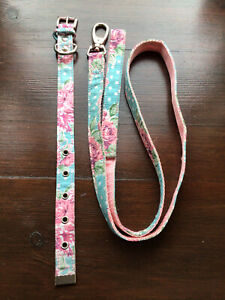 Urban Pup Vintage Rose Puppy Collar And Lead Size Small