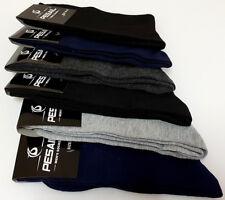 6 Pairs of Men's Cotton Rich Plain Assorted Colour Socks Black Size 6-8