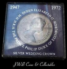1972 Queen Elizabeth II & Philip Silver Wedding Commemorative Crown Coin,