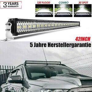 42 Inch 104cm LED Lightbar Work Lights Light bar Spot Flood Beam For Ford Ranger