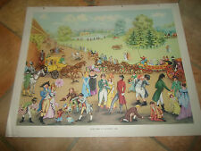 Hyde Park On A Sunday, 1804 (Colourful Retro)  Macmillan History Picture  #113