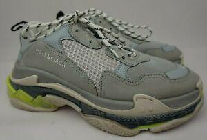 Balenciaga Triple S Sneakers Men's Grey Neon Yellow Shoes Size 42