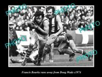 OLD LARGE HISTORICAL PHOTO OF RICHMOND FC GREAT FRANCIS BOURKE c1974