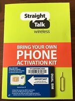 Straight Talk Micro Sim Card For AT&T iPhone 4 4S, Galaxy S3 S4 S5 & Note 2 3 4