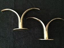 """VINTAGE Art Deco Swedish Ystad-Metall """"Lily"""" Brass Candle Holders Sweden 