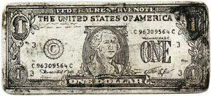 Sterling Silver Token, Federal Reserve, $1, 1976-C, serial C 96309564 C (*B31*)