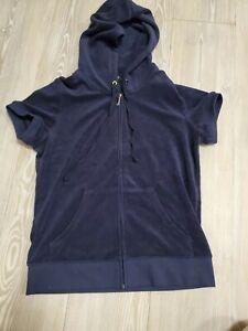 Ladies Juicy Couture Tracksuit Top Size Medium Black