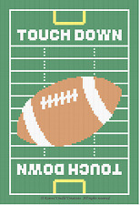 Crochet Patterns - FOOTBALL FIELD TOUCH DOWN Pattern