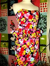 NEW LOOK ROBE BUSTIER DRESS FIFTIES  VOLANT TAILLE T UK 10 OU 36/38