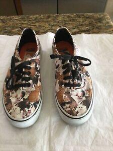 VANS Cats Kitten Print ASPCA Lace Up Sneakers Shoes Size 8 Women