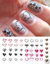 Heart Assortment Nail Art Waterslide Decals - Salon Quality for Valentines Day!