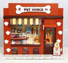 3D Handmade Wooden Dollhouse DIY Dolls House European Miniature Shop - Pet World