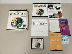 Encyclopedia Britannica 98 CD Mutimedia Edition PC 2 CDs Complete Tested Working