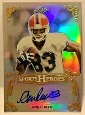 Andre Reed 2017 Leaf Sports Heroes Metal GOLD Refractor Autograph Auto #'d 1/1