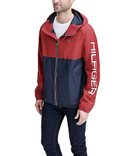 Tommy Hilfiger Mens Colorblocked Logo Rain Slicker, Size XL