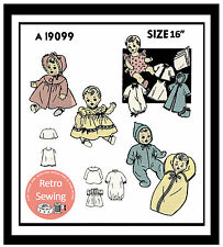 "1950s 16"" Baby Doll Clothes Sewing Pattern - Copy"