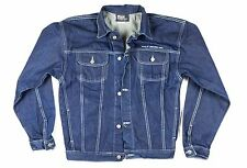 VTG 90's Ralph Lauren Polo Raw Denim Jacket Sz. 18 Mens Large U.S.A Made