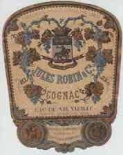 """""""EAU-DE-VIE VIEILLE  JULES ROBIN & C°  COGNAC"""" Etiquette-chromo originale 1862"""