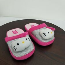 Sanrio Hello Kitty Slippers Youth Kids Little Girls Size Medium 2/3 House Shoes